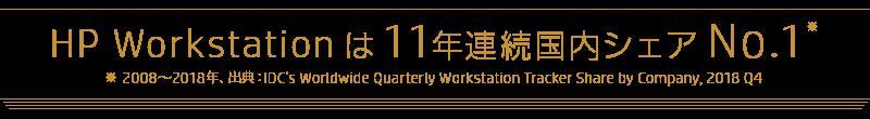 HP Workstationは11年連続国内シェアNo.1