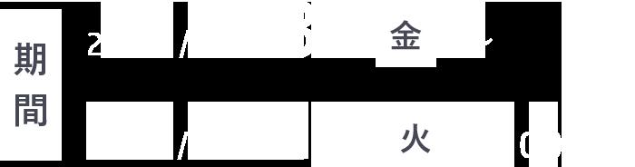 期間 2020/1/31 金 ~ 2020/5/12 火 17:00